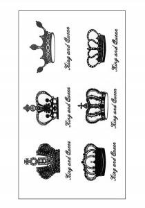 Crown Temporary Tattoos
