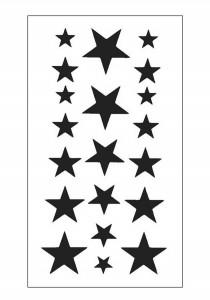 Geometric Rockstar Temporary Tattoos