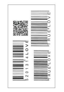 True Love Barcode Temporary Tattoos