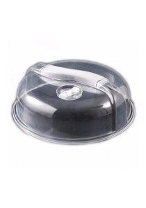 Kitchen Microwave Food Dish Plate Cover Lid (Transparent)