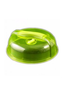 Kitchen Microwave Food Dish Plate Cover Lid (Green)