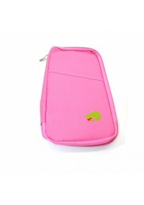 Travel Organizer Bag Pocket for Passport Cards Wallets Documents (Pink)