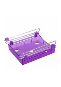 Slide Kitchen Fridge Freezer Space Saver Organizer (Purple)