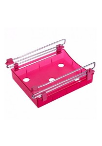 Slide Kitchen Fridge Freezer Space Saver Organizer (Red)