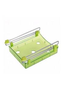 Slide Kitchen Fridge Freezer Space Saver Organizer (Green)