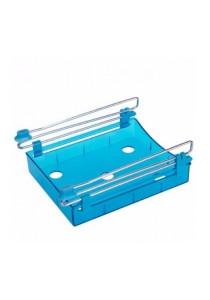 Slide Kitchen Fridge Freezer Space Saver Organizer (Blue)