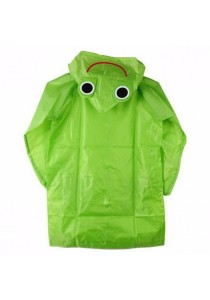 Kids Outdoor Cute Funny Raincoat (Green Frog)