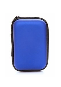 Earphone Cable Key Travel Storage Pouch Organizer (Blue)