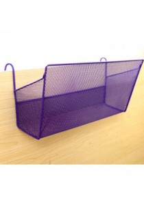 Home or Office Hanging Storage Organizer Shelf (Purple)