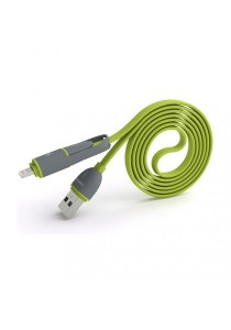 Pineng PN-301 2 In 1 Speed And Data Charging Cable (Green)
