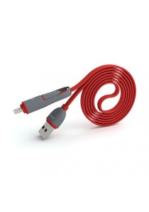 Pineng PN-301 2 In 1 Speed And Data Charging Cable (Red)