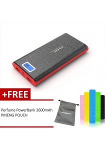 Pineng PN-920 20000mAh Power Bank (Starlight Black) + FREE Perfume 2600mAh Power Bank And Pineng Pouch