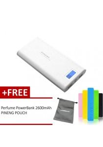 Pineng PN-920 20000mAh Power Bank (Starlight White) FREE Perfume 2600mAh Power Bank And Pineng Pouch