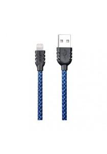 REMAX Suteng Nylon Data Lightning Cable For iphone 5/5C/5S/6/6 Plus & iPad Air/Mini (Blue)