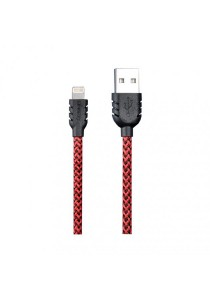 REMAX Suteng Nylon Data Lightning Cable For iphone 5/5C/5S/6/6 Plus & iPad Air/Mini (Red)