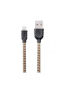 REMAX Suteng Nylon Data Lightning Cable For iphone 5/5C/5S/6/6 Plus & iPad Air/Mini (Yellow)