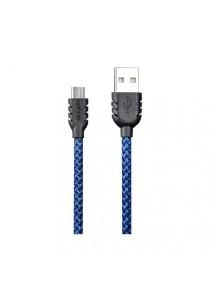REMAX Suteng Nylon Micro USB Data Cable For Samsung/Asus/HTC/Lenovo/Vivo/Oppo/XiaoMi (Blue)