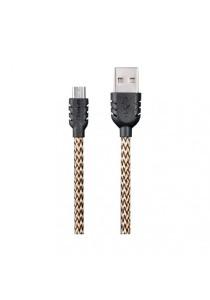 REMAX Suteng Nylon Micro USB Data Cable For Samsung/Asus/HTC/Lenovo/Vivo/Oppo/XiaoMi (Yellow)