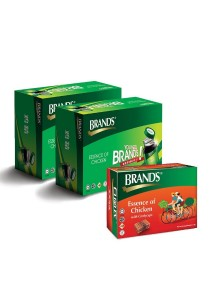 Brand's Essence of Chicken Twin Pack + Cordyceps Single Pack - 18 Bottles x 70gm