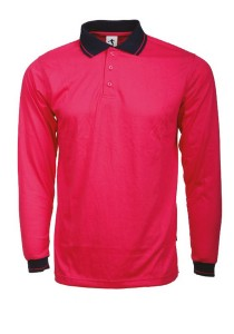 Cotton Polo T Shirt BSC LS 04 (Magenta)