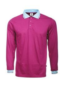 Cotton Polo T Shirt BSC LS 05 (Purple)