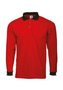 Cotton Polo T Shirt BSC LS 06 (Red)