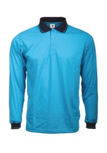 Cotton Polo T Shirt BSC LS 07 (Turquoise)