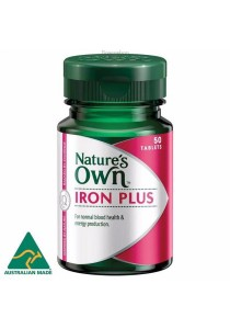 Natures Own Iron Plus (50 Tablets x 3)