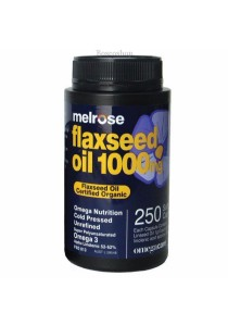 Melrose Organic Flaxseed Oil 1000mg (250 Softgel Capsules)