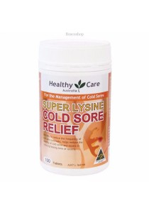 Healthy Care Super Lysine Cold Sore Relief 1000mg (100 Tablets)