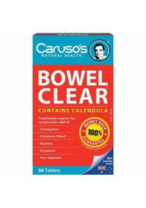 Carusos Natural Health Quick Cleanse Bowel Clear (30 Tablets)