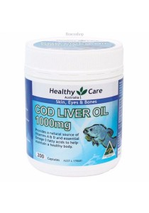 Healthy Care Cod Liver Oil 1000mg (200 Softgel Capsules)
