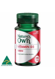 Natures Own Vitamin D3 1000iu (200 Capsules)