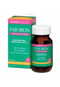 Fab Iron + Vitamin B Complx (60 Tablets)