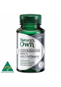 Natures Own Men's Multivitamin Mega Potency (60 Tablets)