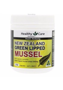 Healthy Care New Zealand Green Lipped Mussel (250 Capsules)