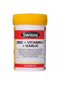 Swisse Ultiboost Zinc + Vitamin C + Garlic (60 Tablets)