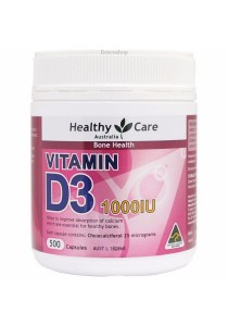 Healthy Care Vitamin D3 1000IU Limited Edition (500 Capsules)