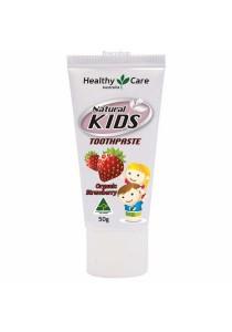 Healthy Care Natural Kids Toothpaste Organic Strawberry Flavour (50g)