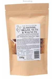 ACTIFOODS Almonds, Brazil & Walnuts Activated, Raw & Pesticide Free (100g)