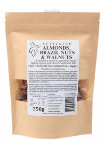 ACTIFOODS Almonds, Brazil & Walnuts Activated, Raw & Pesticide Free (250g)