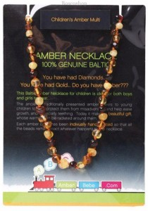 AMBERBEBE Children's Necklace Baltic Amber (Multi-coloured)