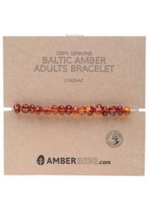 AMBERBEBE Adult's Bracelet Baltic Amber (Cognac)