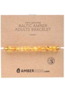 AMBERBEBE Adult's Bracelet Baltic Amber (Honey)