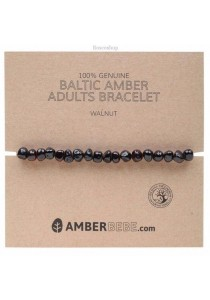 AMBERBEBE Adult's Bracelet Baltic Amber (Walnut)