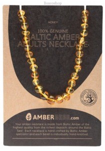 AMBERBEBE Adult's Necklace Baltic Amber (Honey)