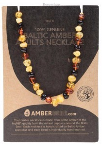 AMBERBEBE Adult's Necklace Baltic Amber (Multi-coloured)