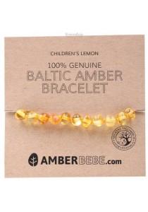 AMBERBEBE Children's Bracelet/Anklet Baltic Amber (Lemon)