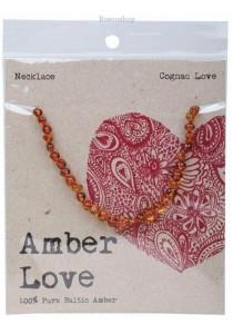 AMBER LOVE Children's Necklace Baltic Amber (Cognac Love)