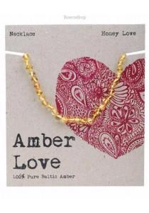 AMBER LOVE Children's Necklace Baltic Amber (Honey Love)
